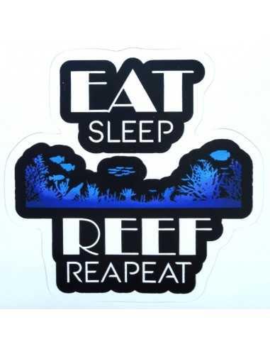 Design Sticker Aquarium - Eat Sleep Reef Repeat