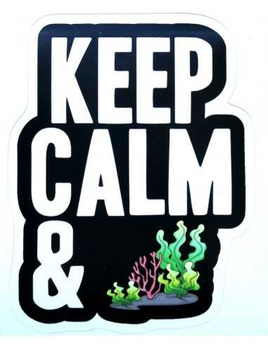 Design Sticker Aquarium - Keep Calm & Macroalgae Reef
