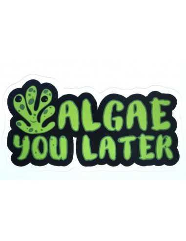 Design Sticker Aquarium - Algae You Later Green
